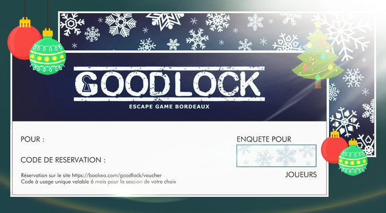 bon cadeau noël goodlock escape bordeaux