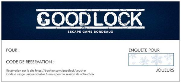 Cadeau Noel Goodlock Escape Bordeaux origina